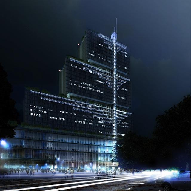 Le nouveau palais de justice, donjon moderne au bord du periph'