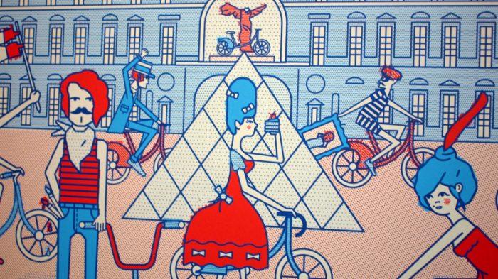 Vue sur Paris avec Vélib