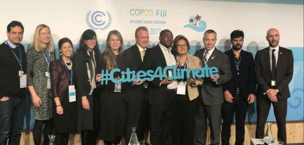 Les 25 villes du C40 s'engagent pendant la COP 23