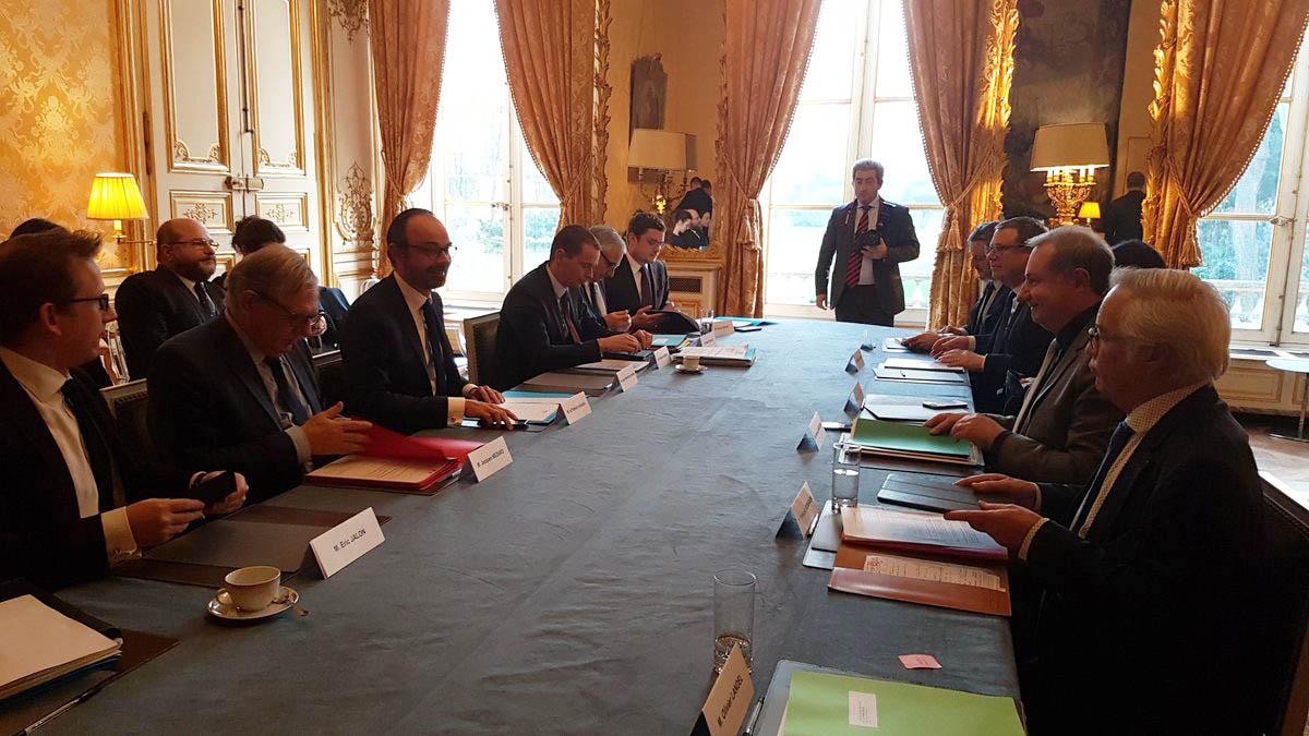 Le Premier ministre reçoit une délégation des Elus de France urbaine