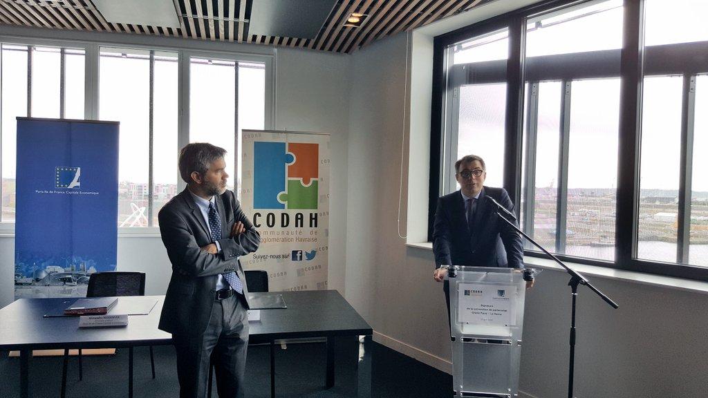 Convention de partenariat pour l'attractivité entre la CODAH et Paris Capitale Economique