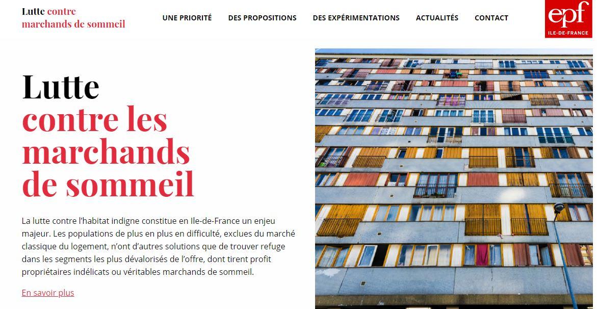 Lutte contre les marchands de sommeil : lancement d'un site internet pour relayer les initiatives locales et les propositions