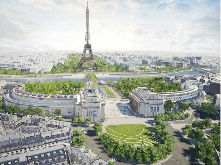 Les abords de la Tour Eiffel transformés en immense jardin