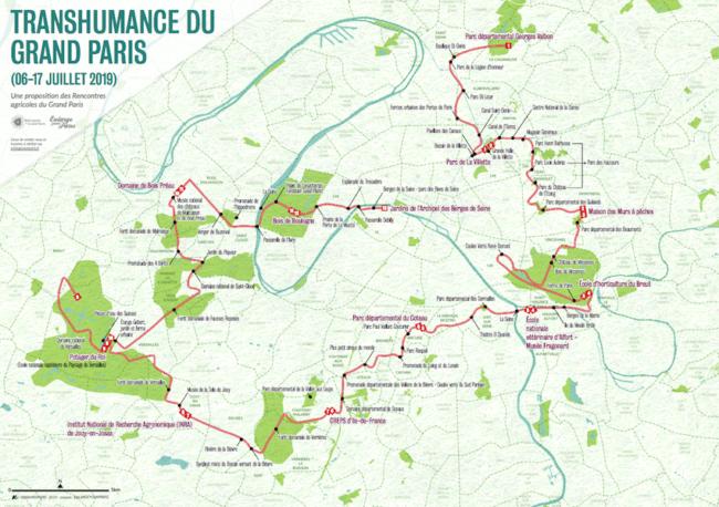 carte transhumance urbaine